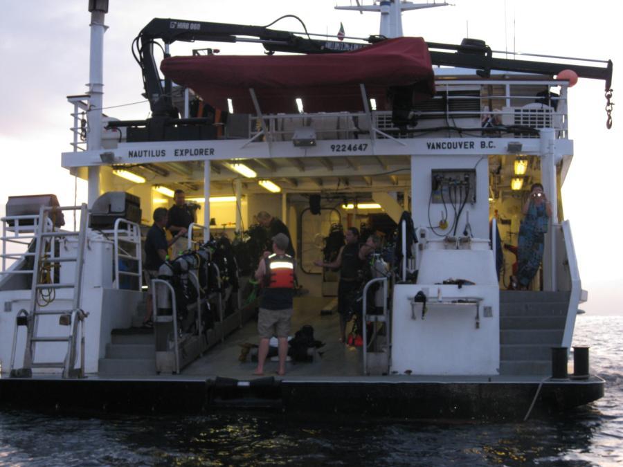 Boat deck Nautilus Explorer