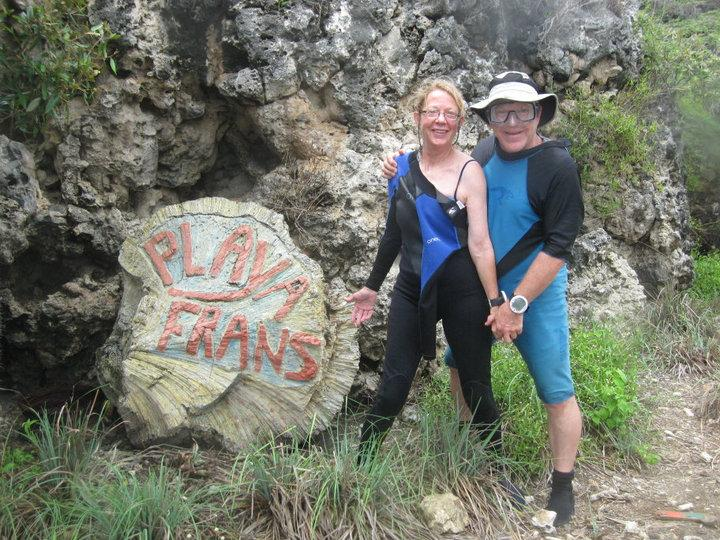 Our Friends and Dive Buddies, Rob & Jan at Playa Frans, Bonaire