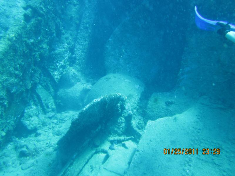 Wreck of Rhone (prop section)