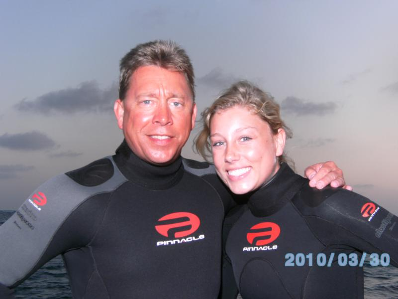 Beautiful daughter and dive buddy in Grand Cayman Mar-10