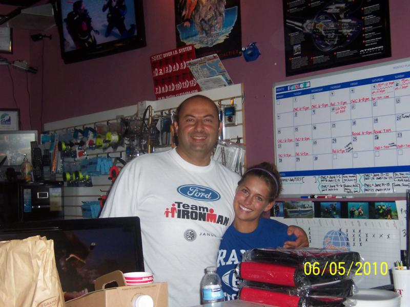 Our awesome instructors, Shawn and Amber at Scuba Now.