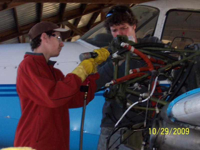 Kevin and Steve repair motor mounts