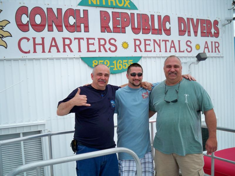 me, nephew Josh, brother Mike in Key Largo