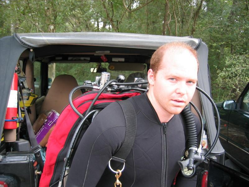 Me - geared up for a cave dive. c. 2003