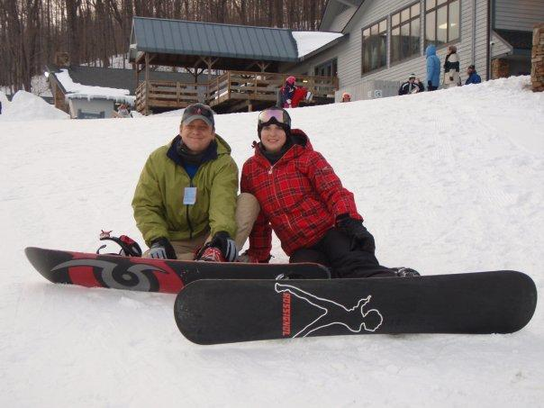 Seven Springs - Lisa and I - Sometimes we have fun on solid water