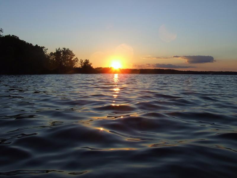 kayak sunset May