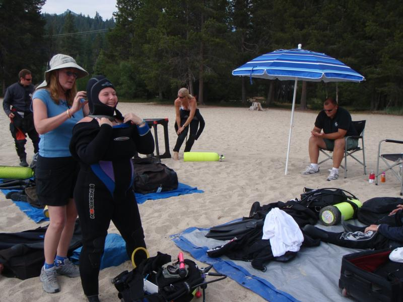 Me kitting up at Tahoe for Rescue training