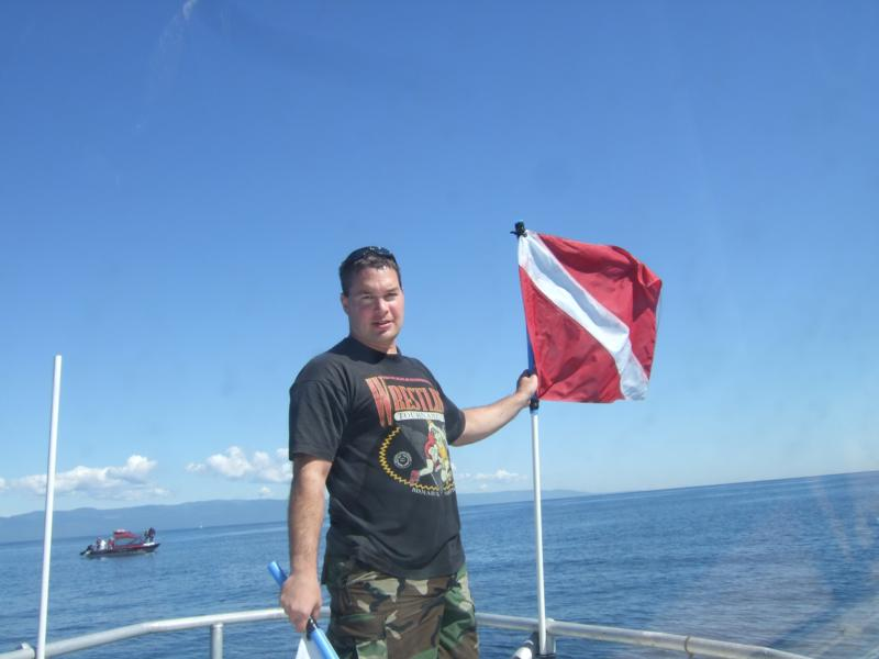 Pulling the dive flag