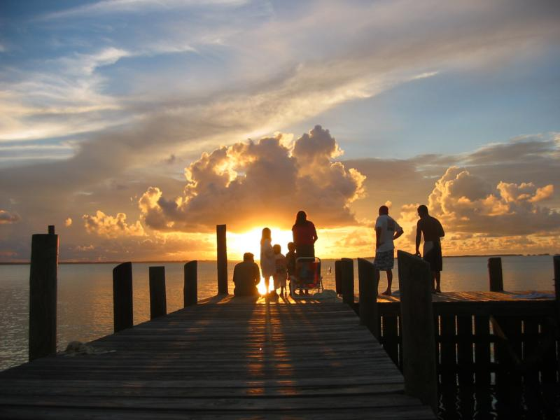 Sunset at Elbow Caye