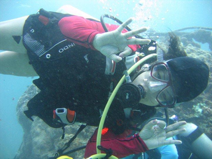 Bigger Brain underwater, double OK :)