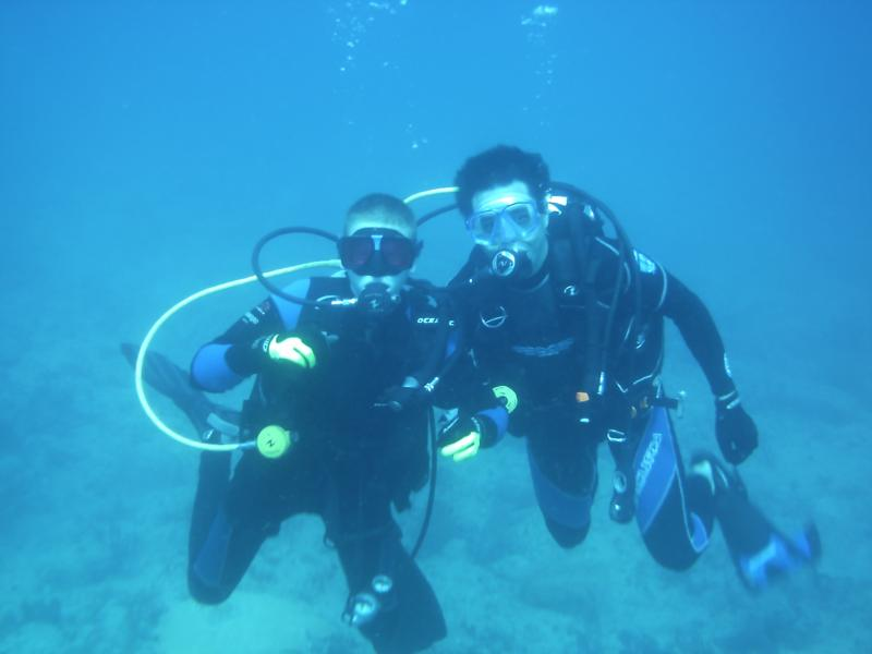 Dive with a young buddy