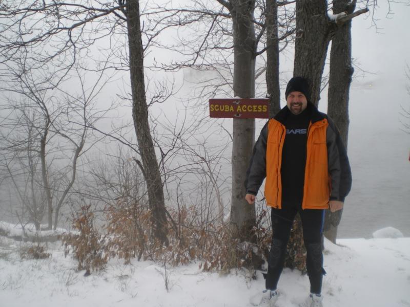Scuba access point / Mt. Storm Lake,WV / Mar-2011