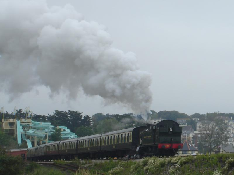 Great Western Railway by the beach,Babbacombe, uk