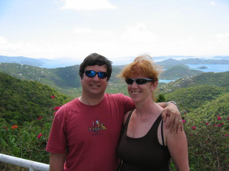 Wife and I in St. Johns