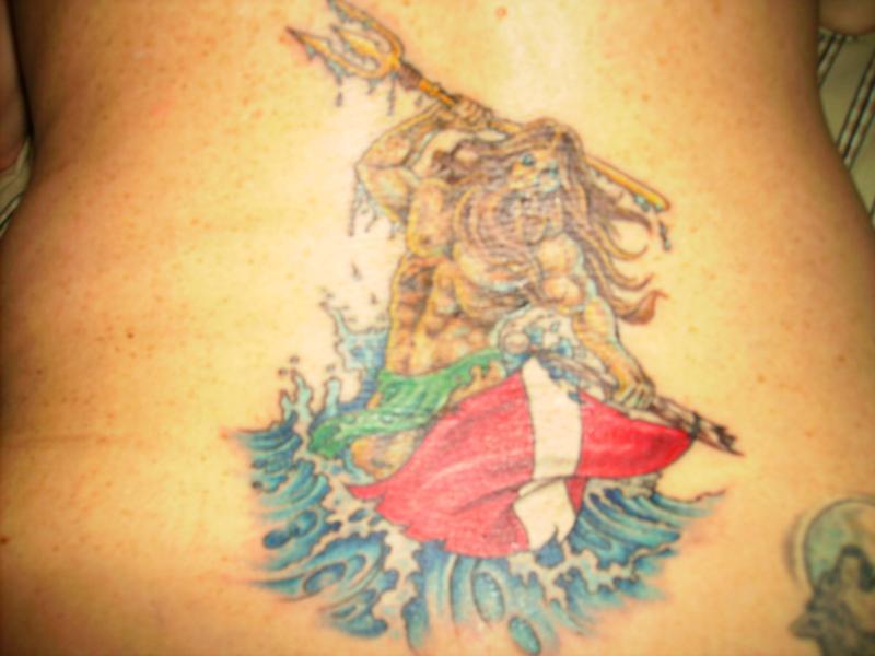 My newest tattoo...Poseiden