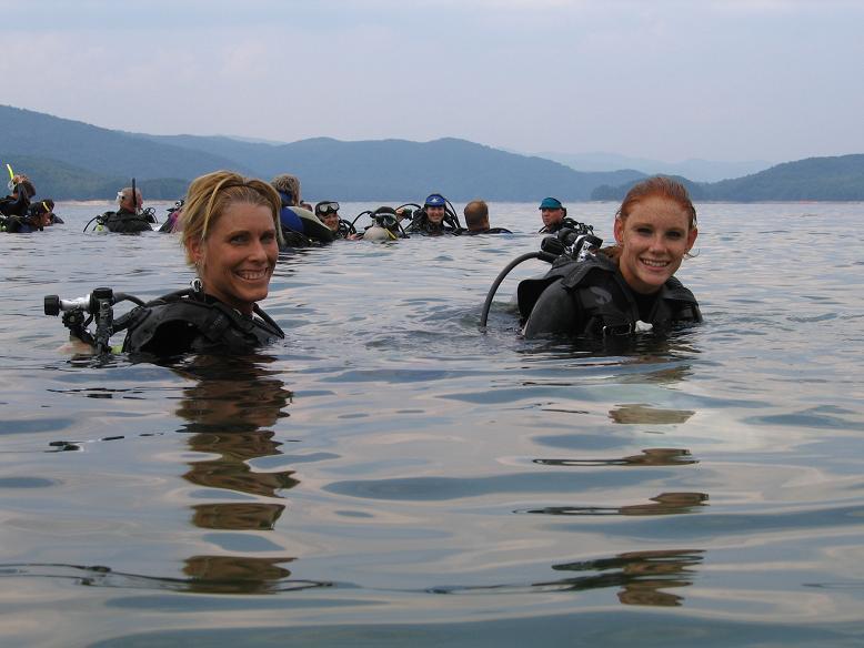 Meg and I at Lake Jocassee