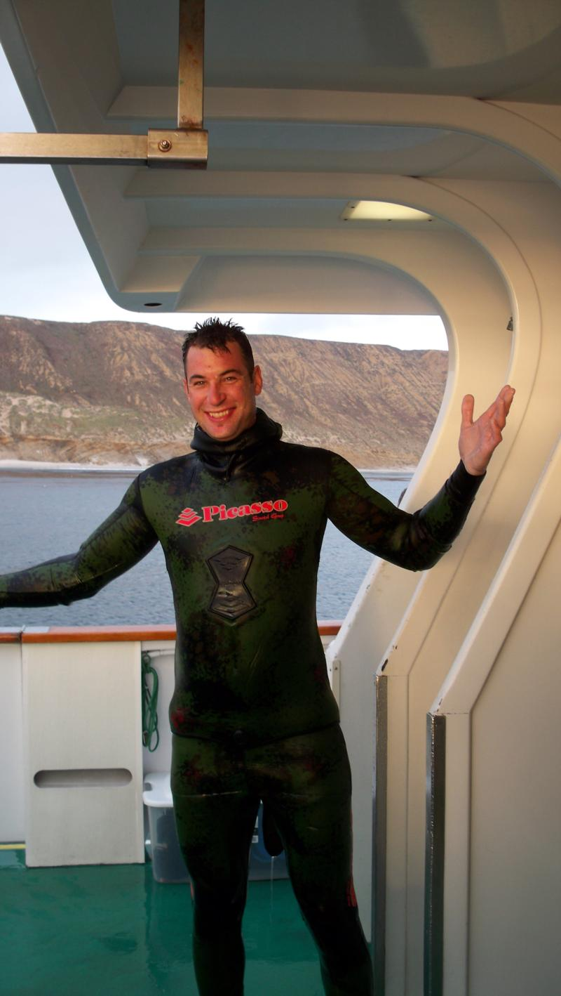 Crazy Robert, great trip only 23 divers on board
