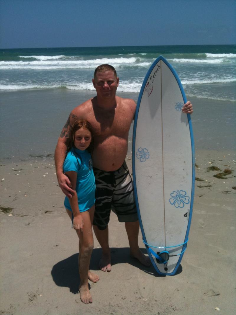 Taking my daughter out for her first time surfing