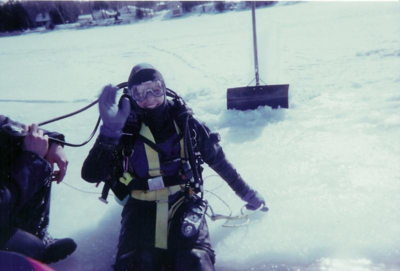 First Ice Dive