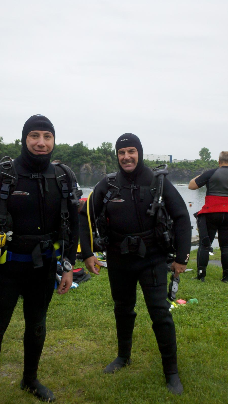 With my Buddy Tim after Rescue Dives (Dutch Springs, PA)