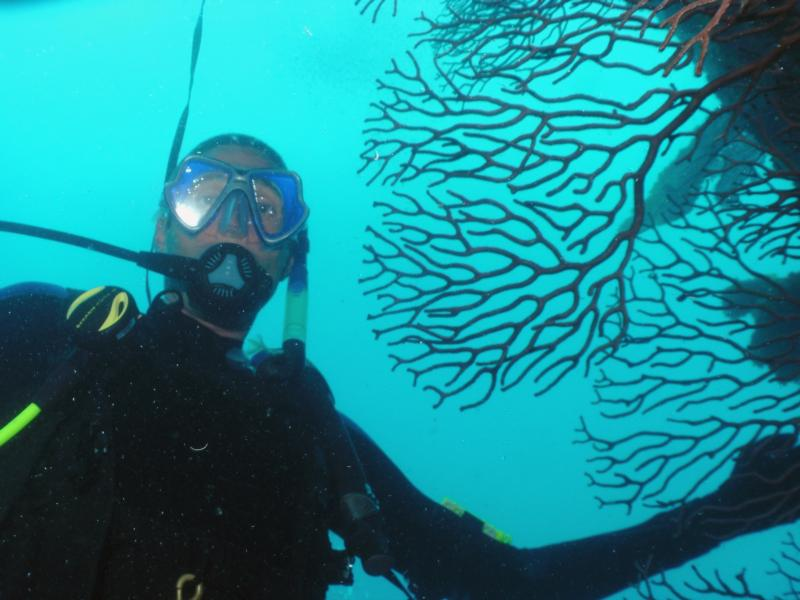Me at a reef in Key Largo