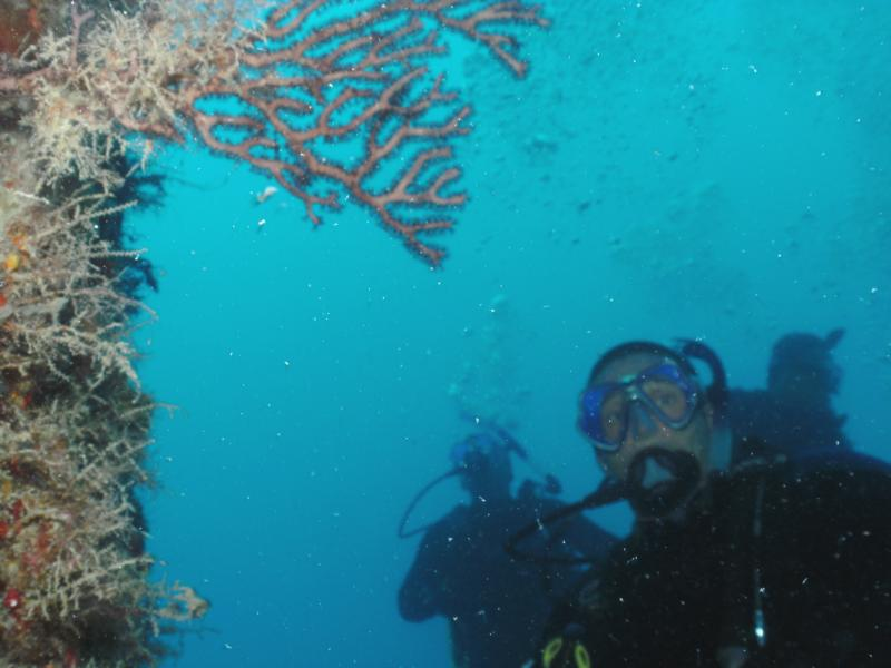 Me by a reef in Key Largo