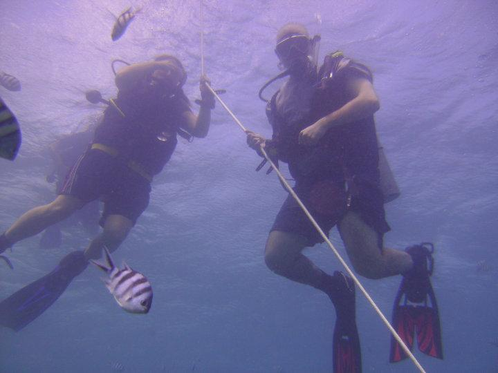 Students in Open Water class- GabGab Guam