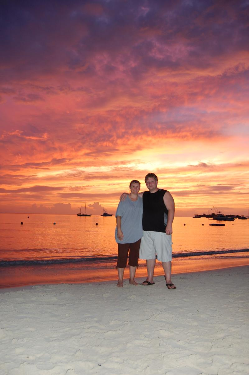 My wife and I in Negril Jamaica