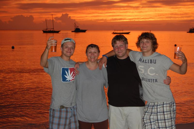 My family and I in Negril Jamaica