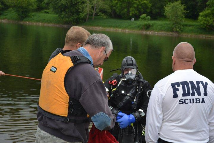 training with PSD, FVFD 81, Delawear River