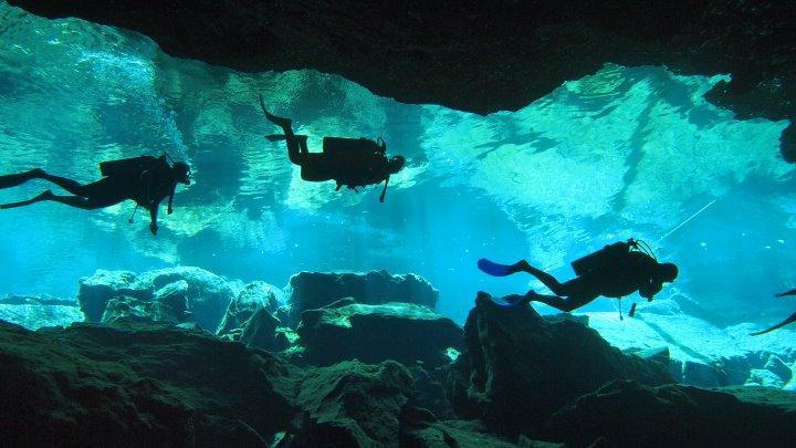 cave dive Mexico