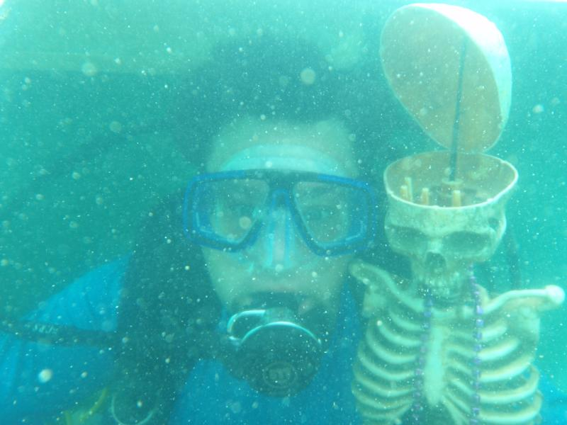 That Diver has been down there a long time