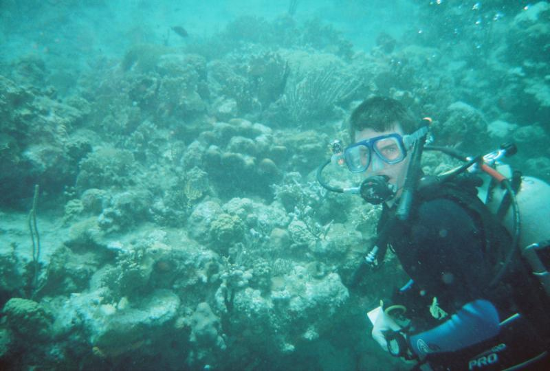 Me Diving at East Wind (Virgin Islands)
