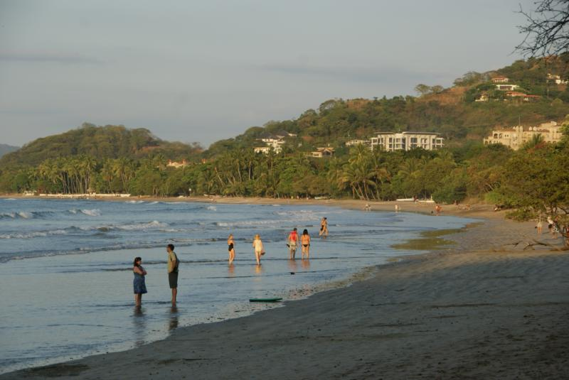 Another view of Playa Tamarindo & the bay