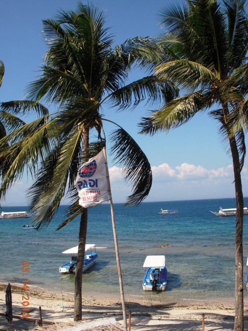 View of Small La Laguna beach, Puerto Galera, Philippines