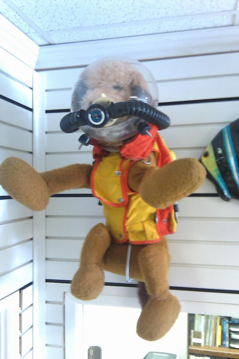 The actual dog diving suit used by Benji in the movie.