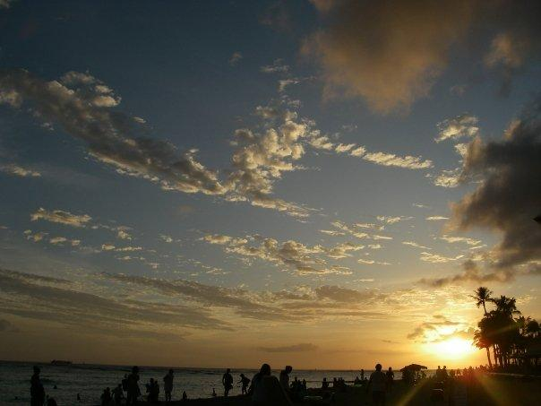 Sunset on Oahu