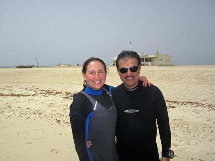 Salwa & Her Husband Dive instructors