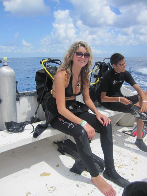 Before dive in Cozumel