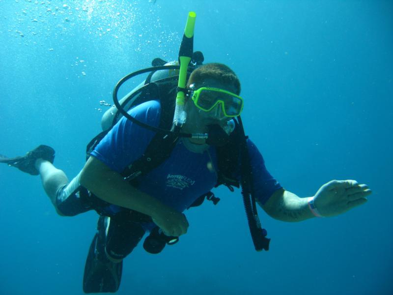 Me diving in Cancun