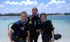 Jeff with two open water students Jere and Aaron