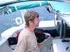 Jeff piloting a 50 foot catamaran sailboat