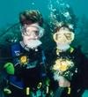 Jeff & Sue`s underwater wedding