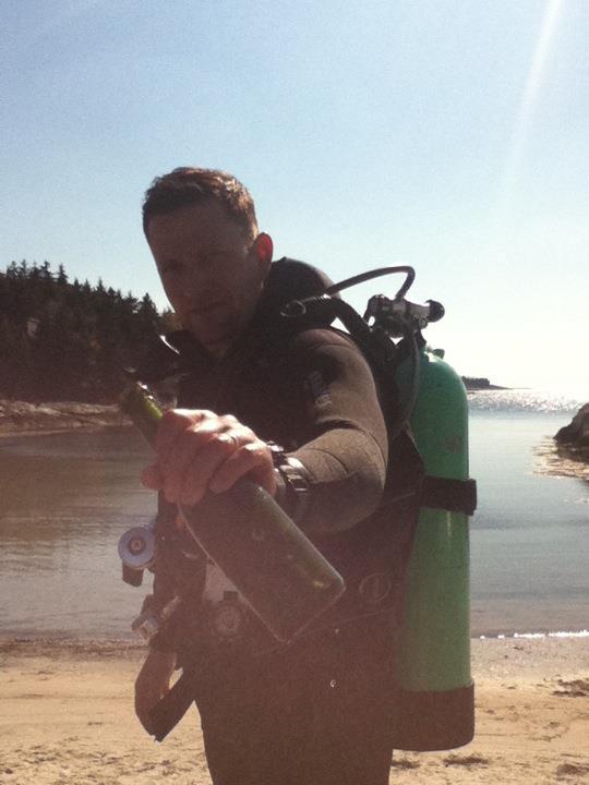 Old bottle found, Hendricks Beach