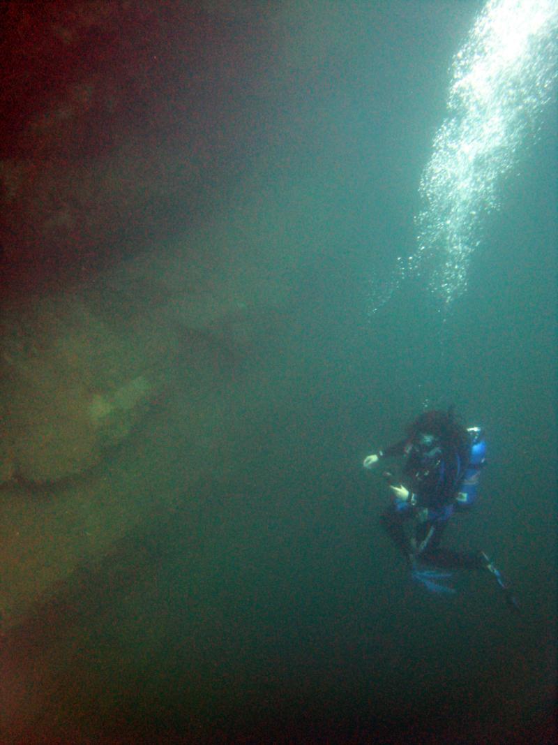 Down in the depths, Lake Rawlings, Va.