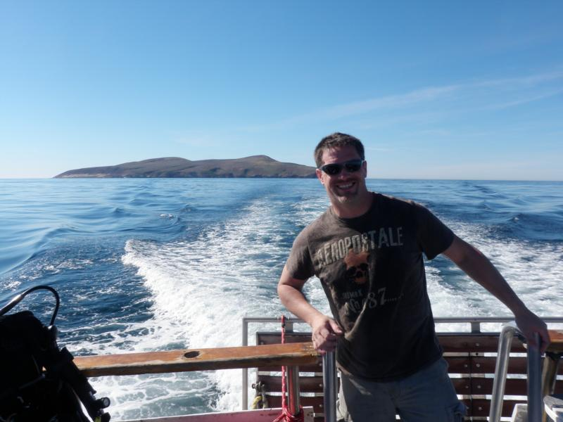 Leaving Santa Barbara Island