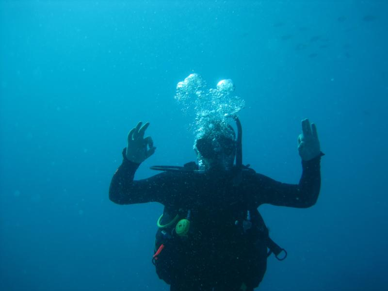 Me on my first dive after getting Certified, GBR Cairns, Australia