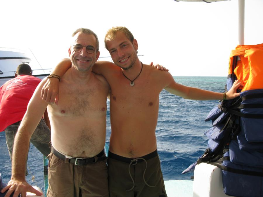 Steve and Christian, from Red Sea Divers, Hurghada, Egypt