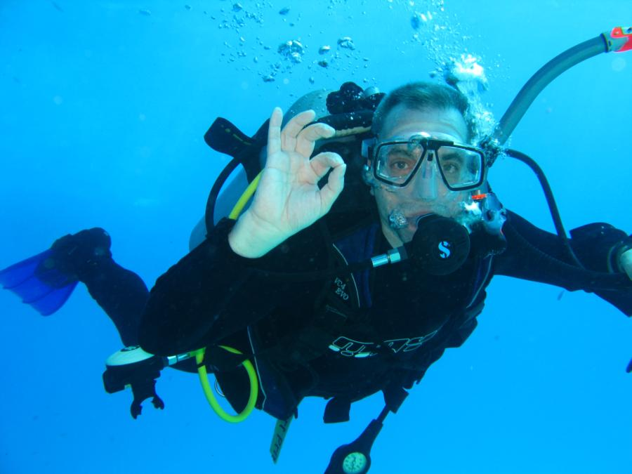Me diving the Red Sea