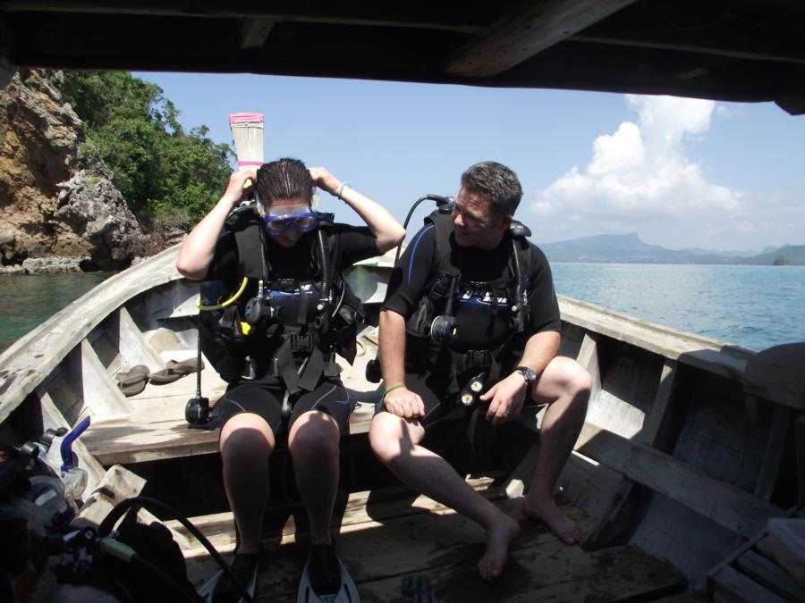 Gray's First Dive, Koa Ya Noi, Thailand 2010